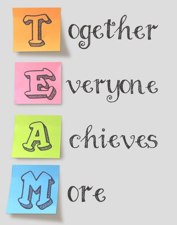 TEAM: Together Everyone Achieves More